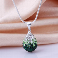 Shamballa jewelry Wholesale, free shipping, New Shamballa necklace pendant Micro Pave CZ crystal Disco Ball drop Bead SBN07