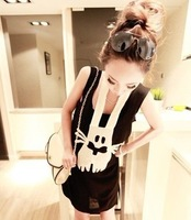 Free shipping wholesale cute fun bandage rabbit dress 2 color into the Special