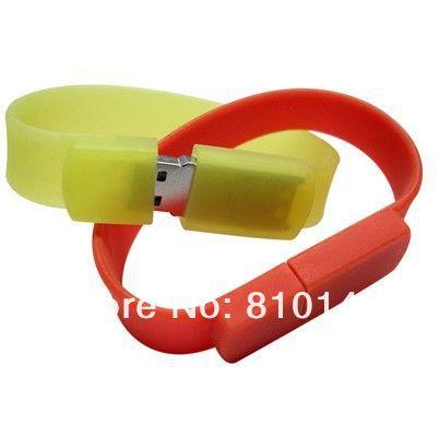 full color bracelet Shape usb flash drive 4GB 8GB 16GB 32GB 64GB  Free shipping can print LOGO