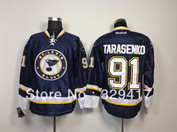 Free shipping!!! Cheap Ice Hockey  Men's Hockey St.Louis  #91 Tarasenko Dr. Blue Colors Jerseys