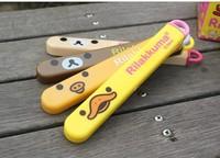 100pcs New design hot!!!! Rilakkuma relaxed bear chopsticks Slot Design Travel convenient portable Push-pull boxed chopsticks