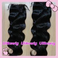 "Ulike Hair --18"" #1  Body Wave Malaysian Virgin Hair Top Closure (4""x4"")"
