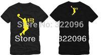 Free shipping 2014 Man's T Shirt sports t shirtSLAM DUNK Print Printed Short Sleeve O-Neck Tees 100% cotton 6 color ZH_Tee_0200