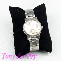 Free Shipping 10 Bracelet Watch Display Stand Pillow Velvet Black