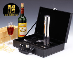 Luxury electric red wine bottle opener gift set wine electric opener. logo printing(China (Mainland))