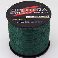 Free shipping! 4 strands 500M 30LB high quality spectra braided fishing line.green