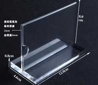 "FREE SHIP clear T-shapes business card holder 80*120mm/3.1""*4.7""  acrylic menu holder/ price card,plexiglass item display card"