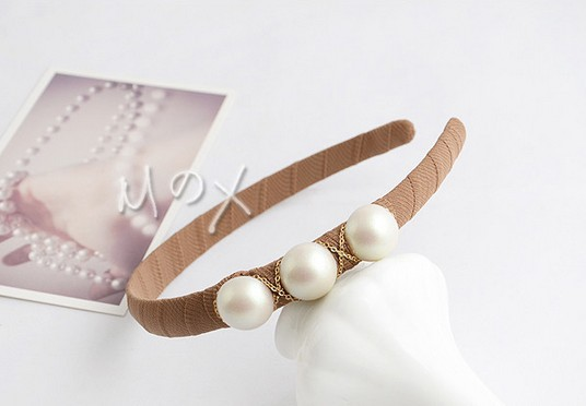 Free Shipping 10pcs Lady Woman Simple round Beads Manual Hairband Jewerly Nayoo(China (Mainland))