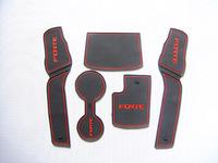 Free Shipping High quality Silica gel Gate slot pad,Teacup pad,Non-slip pad(5 pcs) For 2009-2012 KIA Cerato/Forte
