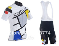 2013 New Arrival Cycling Box Best Selling Cycling Jersey+Bib Short Set/Bicycle Short/Bike clothes/Cycle Wear/Mix Color Rock