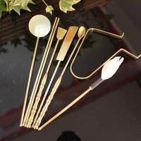 Incense burner tools supplies copper 7 piece set self-shade exquisite