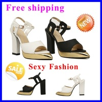 New Arrival Sandals 2013 Ladies Sexy High Heel Sandals open toe heels Sexy platform Party/Evening Shoes Black pointed toe shoes