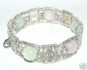 Fancy Tibet & Nepal Jewellery Silver Jade Bracelet