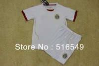 can customed !top quality13-2014 MEXICO home white color soccer jersey, boy MEXICO home soccer uniforms kits for kids child