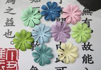 Scrapbook 4.4cm Scrapbooking Paper Flowers For Scrapbooking Decorations 8 color 80pcs/ lot 10 PCS per color Free Shipping