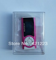 Mini clip LCD screen mp3 player+ FM Radio,with flashlight ,card slot support TF card ,With retail packaging Free Shipping