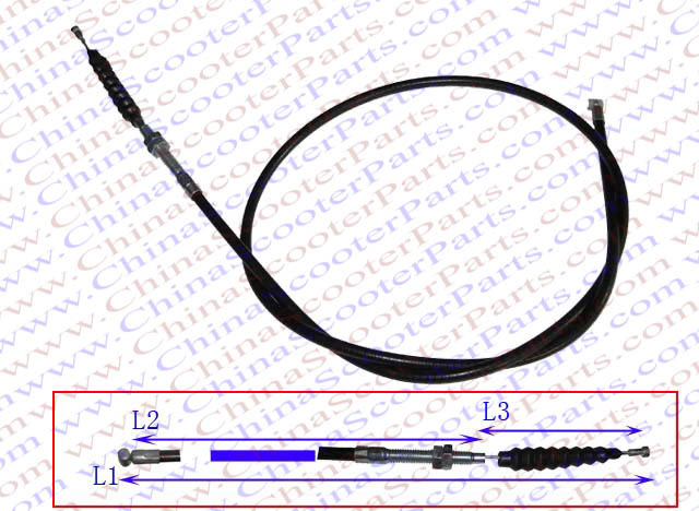 107CM 42.1 Inch Side Adjustable Clutch cable 150CC 200CC 250CC Dirt Pit Bike ATV Quad Parts(China (Mainland))