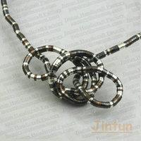 Free Shipping Tri-color Bendy Snake Necklace 12pcs/lot Diameter 5mm Lenght 90cm
