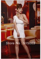 Drop shipping!2013 fashion New Women's sexy Off Shoulder Stretch Tunic Tight Fitted Bodycon Mini cheap women Dress free shipping