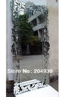 MR-201242 large big glass venetian wall mirror with etching flower