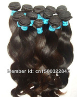 Black Queen virgin Peruvian hair body wave 12''-30'' extension same size/pc 10pcs/lot