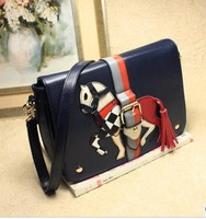 Vintage bag sweet 2013 colorant match strap decoration messenger bag