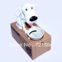 Free Shipping Wildly Popular Dog Eat Money Piggy Bank Creative Gift