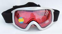 Free Shipping Double Lens Polarized Anti Fog Windproof Ski Goggles UV400 Protection Europe Snow Glasses Men Women Sliver Frame
