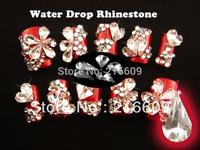 High Quality 50pcs/Lot 6x10mm Clear Crystal Glass Nail Art Phone Water Drop Fashion Gem Rhinestone DIY Decoration Free Shipping