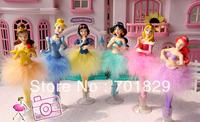 Princess Dolls Figure Toy Pen doll pen Christmas Birthday Gift 6pcs/set In retail Box