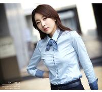 2015 new summer blusa hot sale chiffon casual blusas long sleeve cotton shirt  women leisure fashion ol blouses