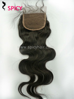 AAAAA quality closures hair bleached knots free shipping