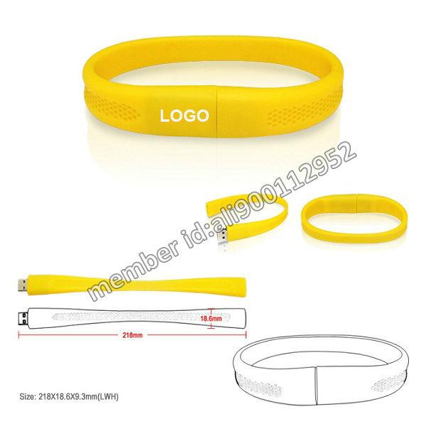 Wholesale 2GB/4GB/8GB Wristband Style USB Memory Disk Thumb Drive,Customized Logo Bracelet USB Stick,Promotional Flash Band USB(China (Mainland))