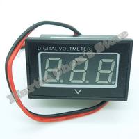"Free shipping 6pcs/lot Mini 0.4"" DC3.0V-30V red waterproof Digital Voltmeter Volt Panel Meter"