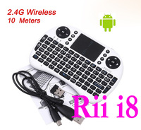 Rii Mini i8 2.4GHz Wireless Keyboard with Touchpad for PC Pad Google Andriod TV Box Xbox360 PS3 HTPC/IPTV Free shipping
