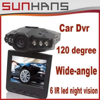 "Car dvr with 2.5 "" TFT Car black box  LCD 6 IR LED HD h198 Car DVR Camera Recorder Free shipping"