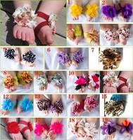2013new fashion baby girls flower footwear  Top Baby foot Flower Footwear,Foot Accessories 20pairs/lot