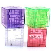 Free Shipping Transparent Crystal Bead Maze Piggy Bank Creative Gift