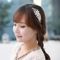 2014 clip flower bridal wedding accessories Korean Hairpin jewelry Crystal rhinestone tiaras and crowns for hair ornaments