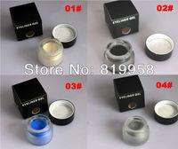Free Shipping!! 4 colros eyeliner gel water proof eyeliner gel