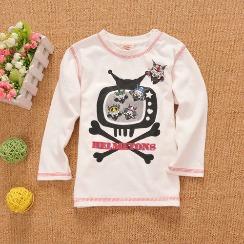 Drug store rsquo . s shote baby cotton long-sleeve 100% T-shirt children's clothing 0.14(China (Mainland))