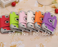 360 Degree Rotating Stand PU Leather Case Cover For Samsung Galaxy S4 S IV i9500 50pcs/lot