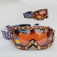 Free Shipping Double Lens Polarized Anti Fog Windproof Ski Goggles UV400 Protection Snowboard Glasses Ventilation holes Women