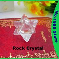 Rock Crystal  Merkaba Star Gemstone Dowsing Pendulum Scrying Dowser Quartz Jasper Feng Shui Crystal