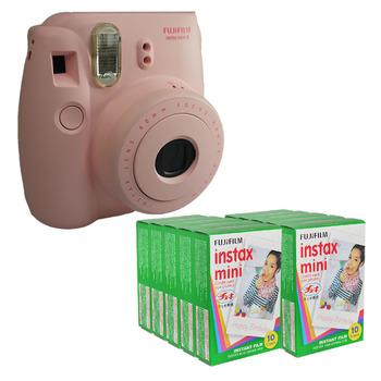 New Japan Fuji Fujifilm Instax Mini 8 Polaroid Camera ( Pink Color ) + 100 sheet Plain White Edge Instant Film Photo