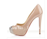 Sexy ladies sheep skin genuine leather shoes platform summer  high heel shoes for women