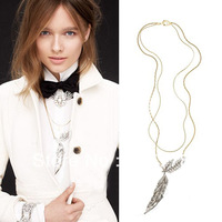 fringe necklace New arrival High Quality J C  Frost For JC Winged Glory necklace Double chains Fashion Jewelry JC necklace