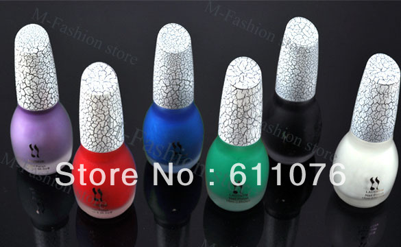 6 Colors Sexy Crack Nail Polish Art Crackle Shatter New Fashion 2085(China (Mainland))