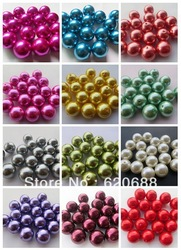 AAA Quality Chunky 20MM Mixed Color 110PCS A Lot Acrylic Pearl Beads for Chunky Necklace Jewelry(China (Mainland))