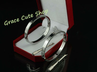 Lover Couple Bracelet For Men & Women Fashion Jewelry 5A Quality Original Gift Box (Card ,Certificat ,Dust Bag ) #CTD04-Silver